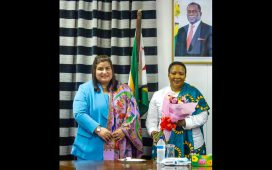 Chitwan Malholtra Meets the First Lady of Zimbabwe